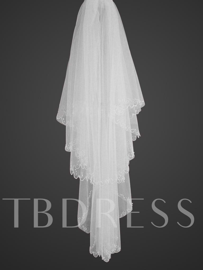 Image of 2-tiers -54 inches wide Elbow Veil