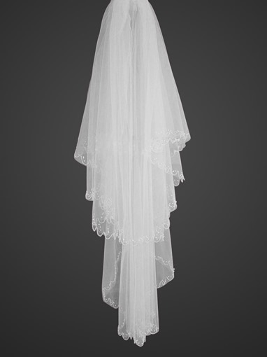 2-tiers -54 inches wide Elbow Veil