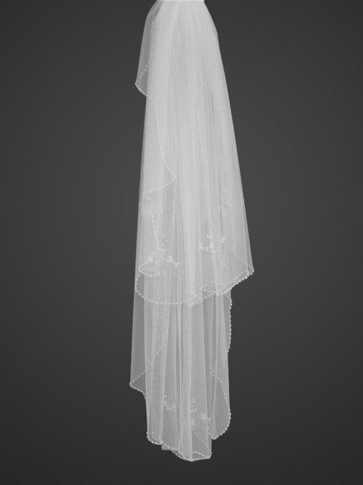 Ul 2-tiers Fingertip length Wedding Veil
