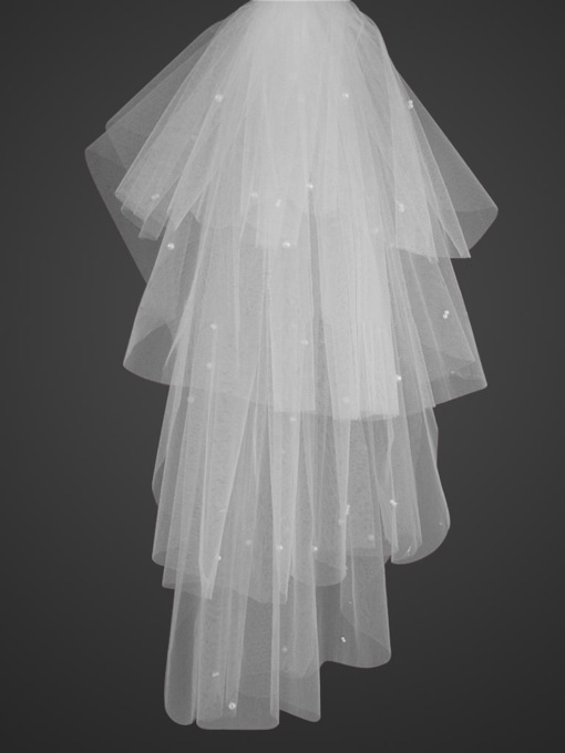 4-tiers Elbow length Wedding Veil