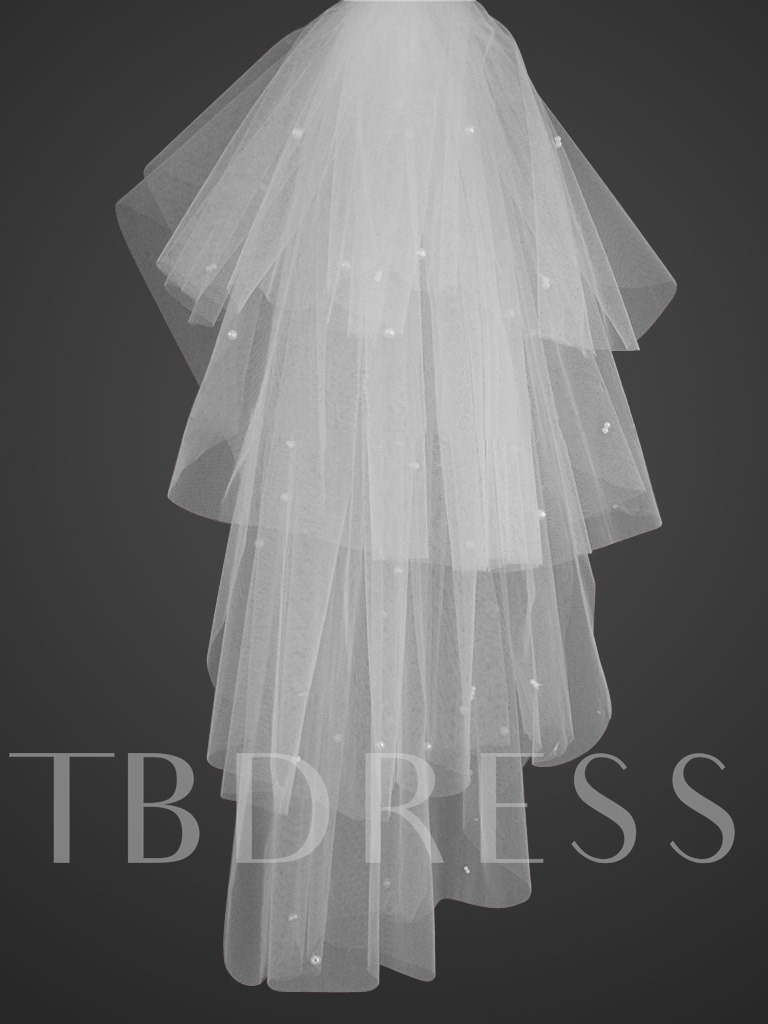 Image of 4-tiers Elbow length Wedding Veil