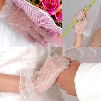 Transparent Yarn Lace Gloves