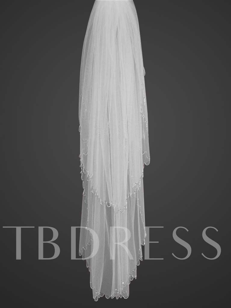 2-tiers Fingertip Wedding Veil