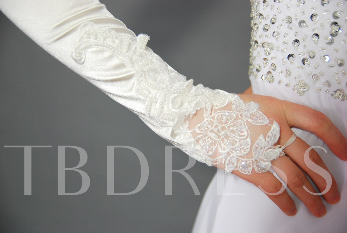 Satin Wedding/ Special Occasion Fingerless Gloves