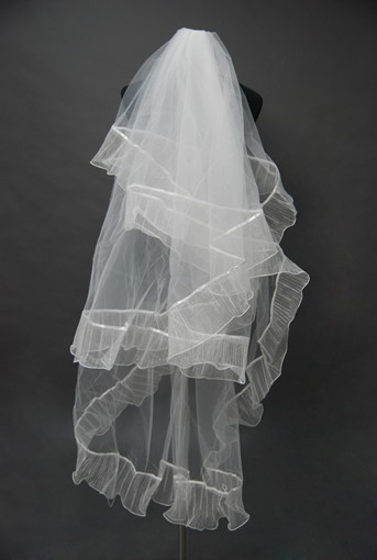 Floral Edge Wedding Bridal Veil JP42083