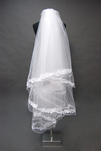Floral Edge Wedding Bridal Veil HX36303