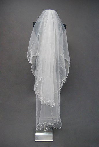 Floral Edge Wedding Bridal Veil UA81970