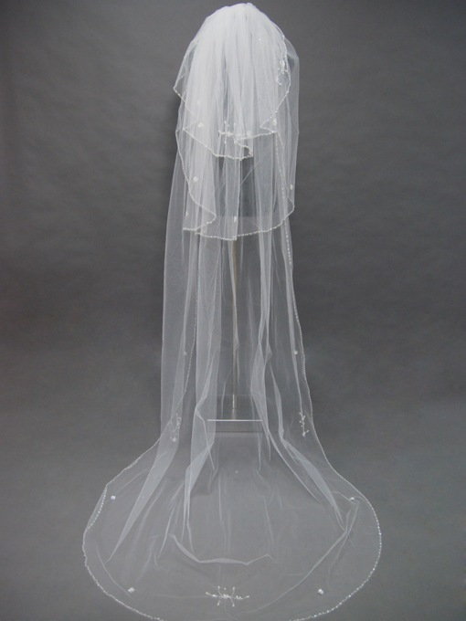 Floral Edge Wedding Bridal Veil RZ70292