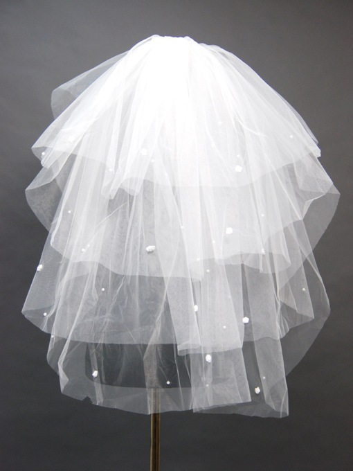 Floral Edge Wedding Bridal Veil GE31251