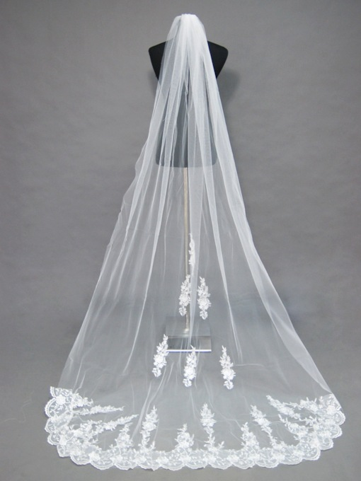 Floral Edge Wedding Bridal Veil NP55389