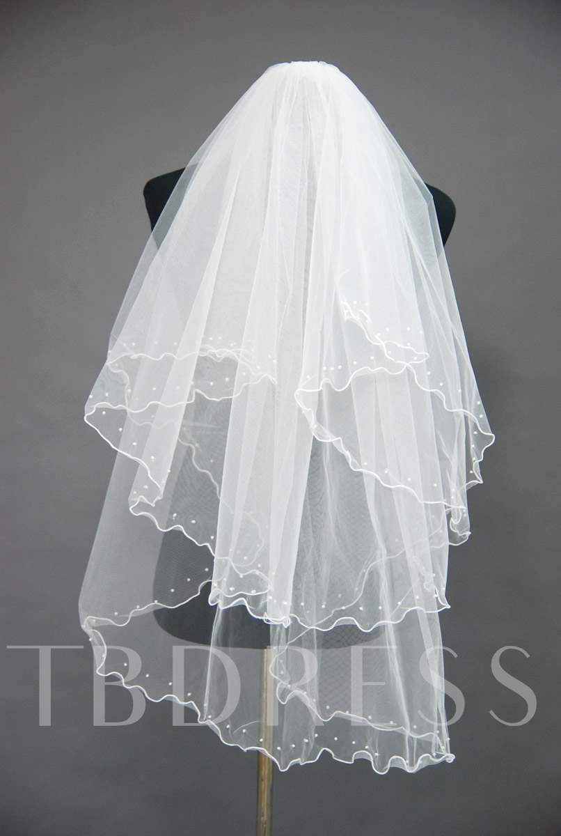 Floral Edge Wedding Bridal Veil GK32606