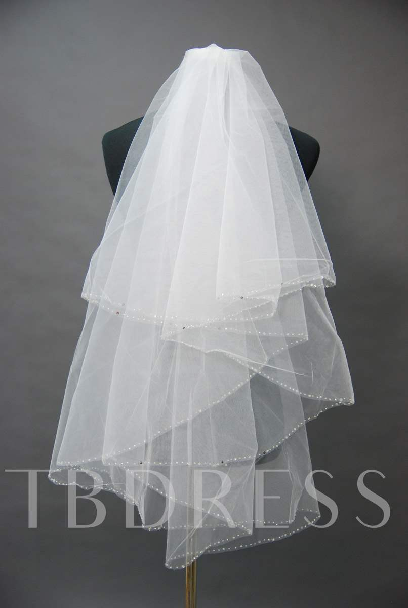 Floral Edge Wedding Bridal Veil ZH97543