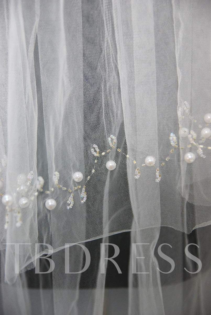 Floral Edge Wedding Bridal Veil KP46232