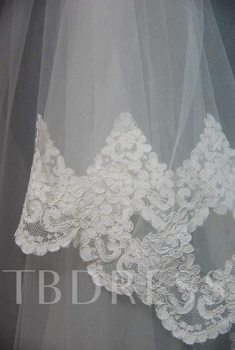 Floral Edge Wedding Bridal Veil YL94638
