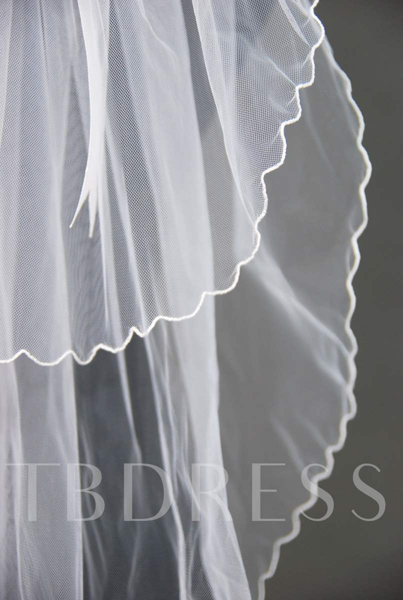 Floral Edge Wedding Bridal Veil ZU98798