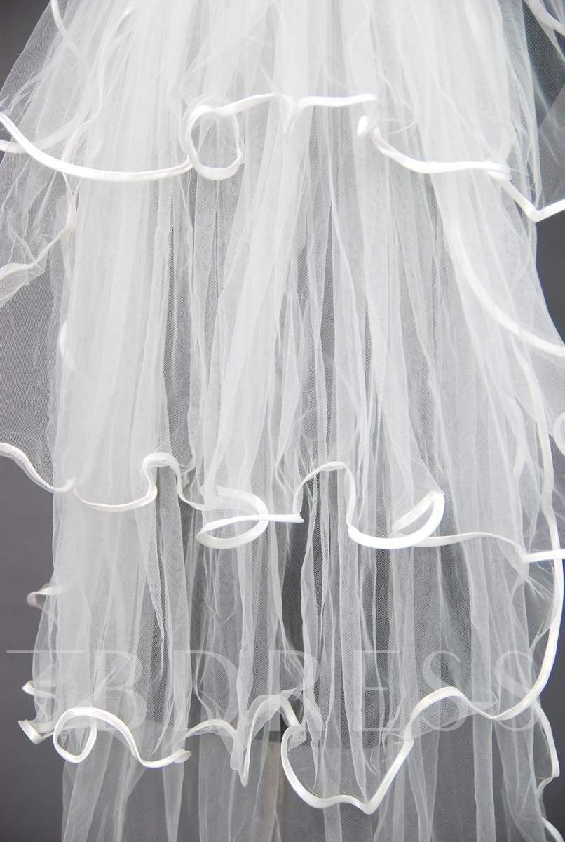 Floral Edge Wedding Bridal Veil XO92436