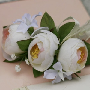 Raw Silk Cloth Bud Wedding Bridal Wrist Corsage