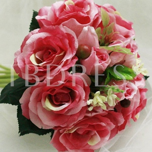 Ardent 10 Pieces Pink Silk Cloth Wedding Bridal Wrist Bouquet