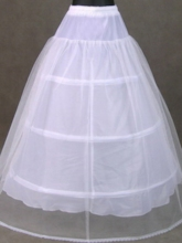 White Tulle Ball Gown Wedding Petticoat