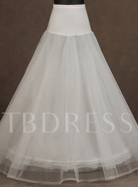 White Tulle A-Line Wedding Petticoat