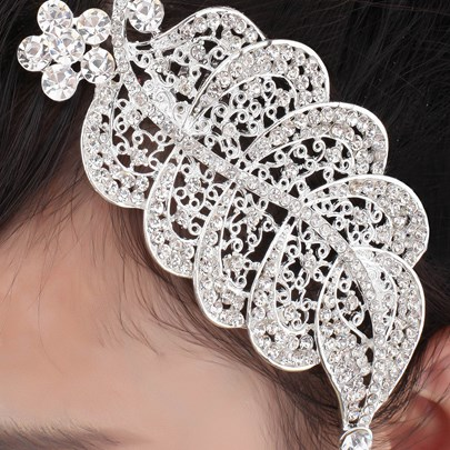 Heart Shaped Tiara & Headpiece-HC