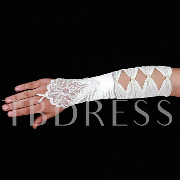 Fingerless Satin Wedding Gloves