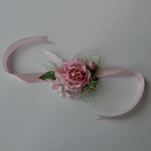 Rose Silk Cloth Wedding Wrist Corsage -bj003
