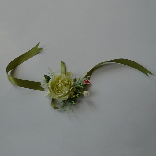 Green Rose Shaped Silk Cloth Wedding Wrist Corsage-bj003