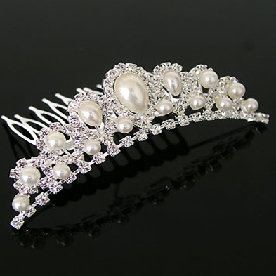 Alloy with Pearl Wedding Bridal Tiara