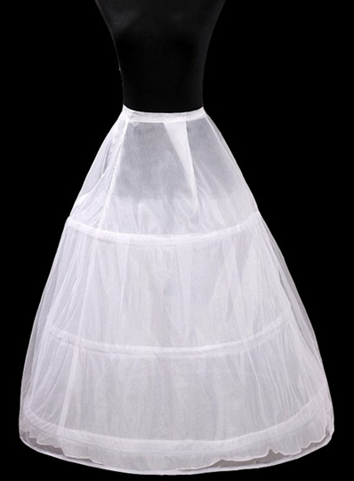 Polyster Taffeta with Three Loops Steel Rings Wedding Petticoats-YC002