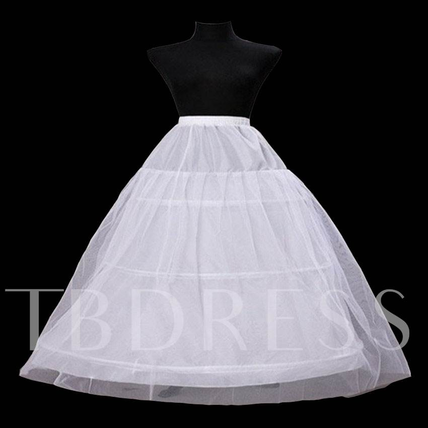 Plus Size Double Layers with Three Steel Rings Wedding Petticoat