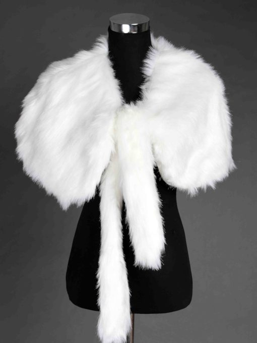 Special Faux Fur Wedding Shawl