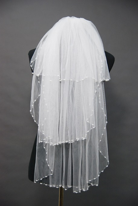 Floral Edge Wedding Bridal Veil OX59472