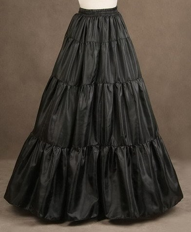 Black Net Wedding Petticoat
