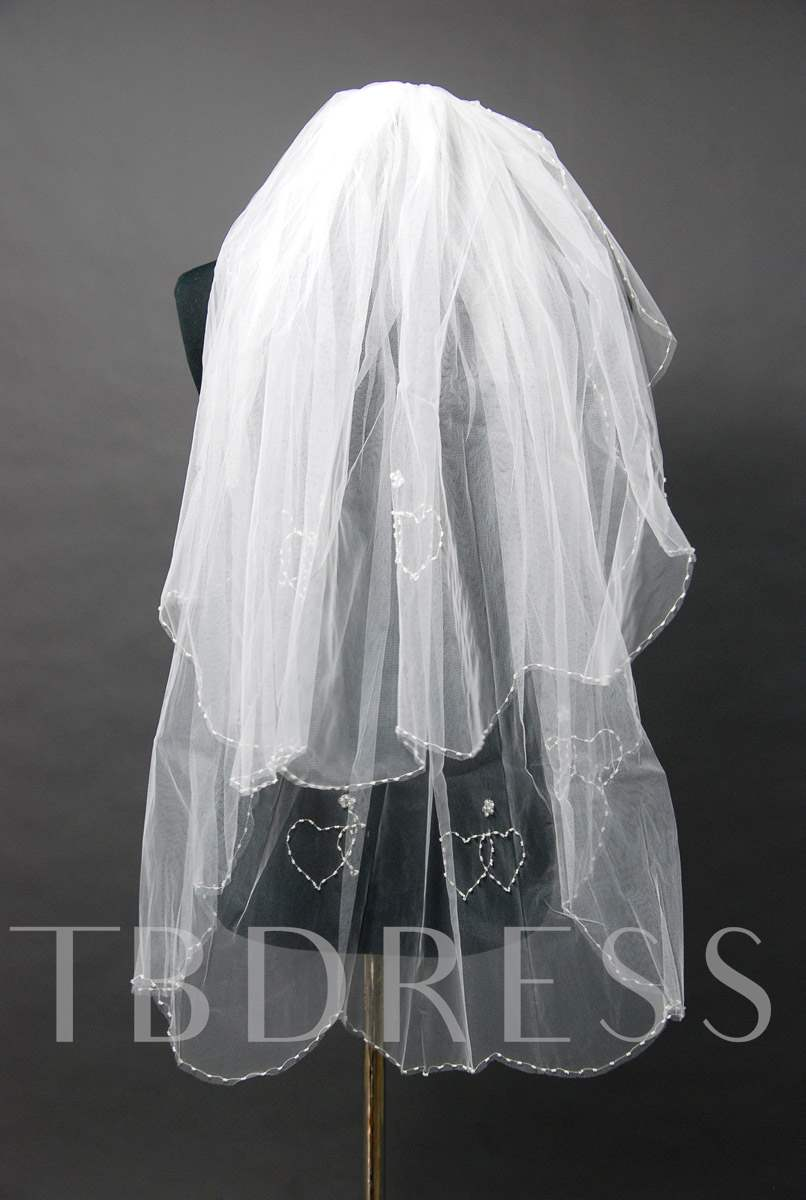 Floral Edge Wedding Bridal Veil ER44521