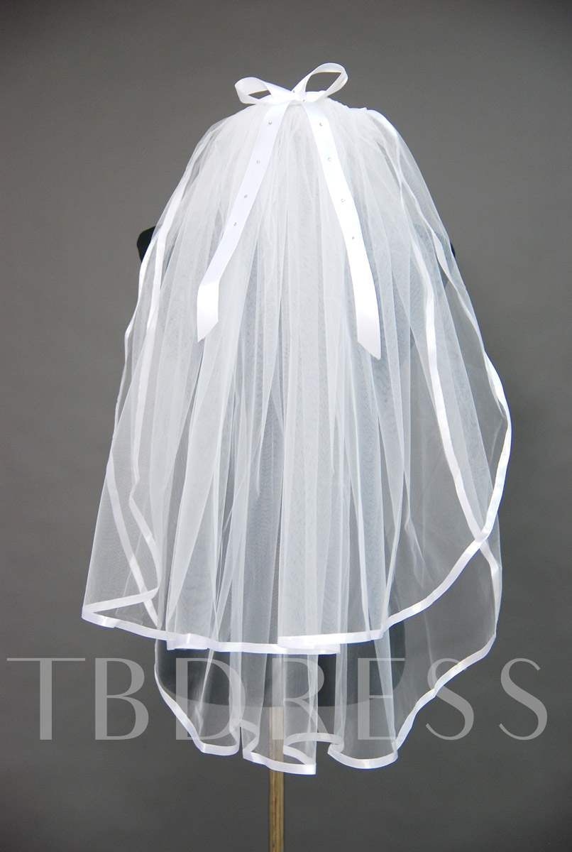 Floral Edge Wedding Bridal Veil HV36975