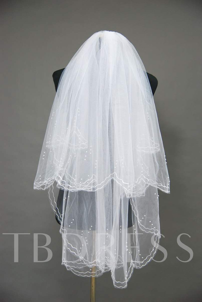 Floral Edge Wedding Bridal Veil SC74783