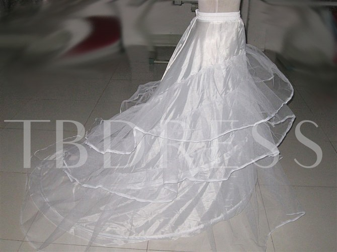 Long Tailing Gauze Wedding Petticoat