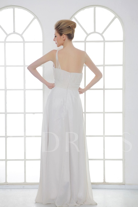A-Line One Shoulder Bridesmaid Dress