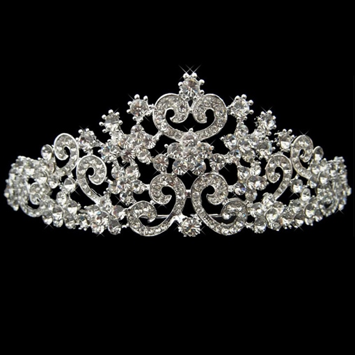 Alloy with Shining Rhinestones Wedding Bridal Tiara