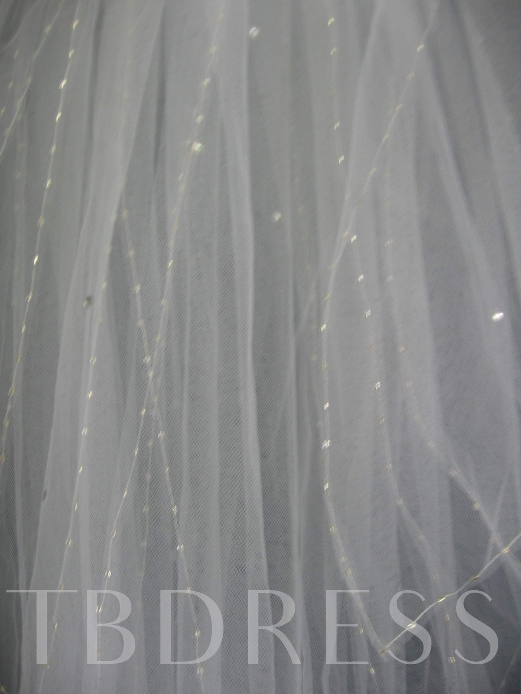 2-Layer Children Veils with Pearl Trim Edge
