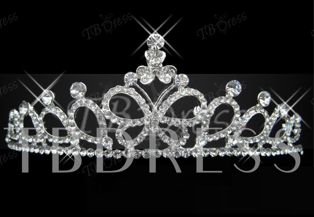 Alloy Rhinestone Crown Design Wedding Bridal Tiara