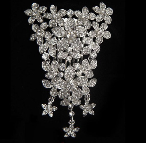 Shining Rhinestone Flowers Alloy Wedding Bridal Tiara
