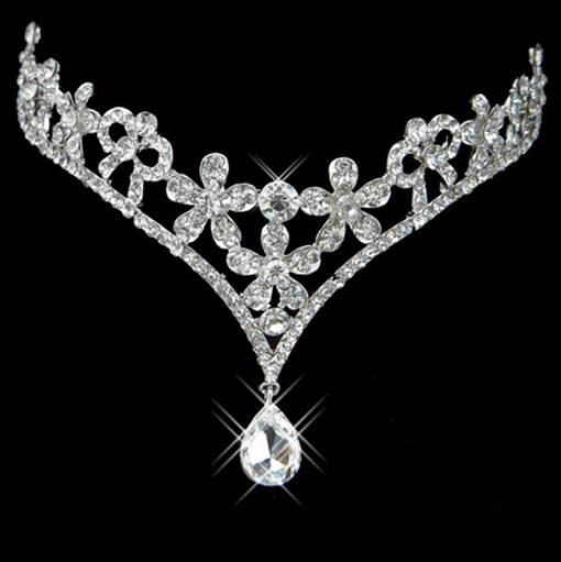 Alloy Rhinestone Wedding Bridal Tiara