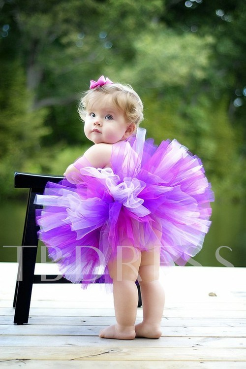 Short/Mini Empire Strapless Color Flower Girl Dress