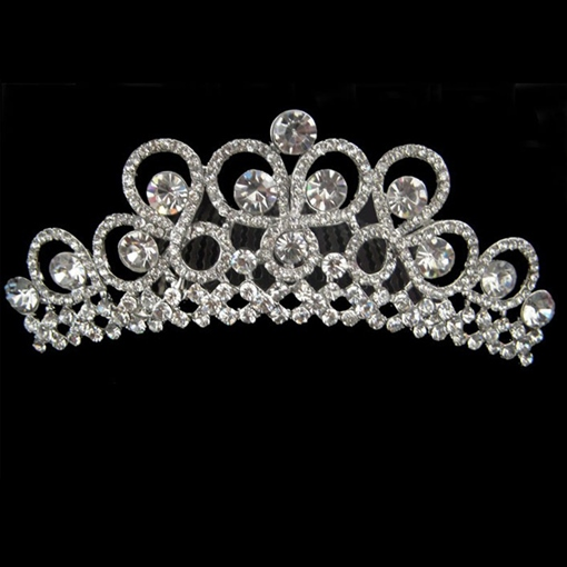Rhinestone Crown Design Alloy Wedding Bridal Tiara