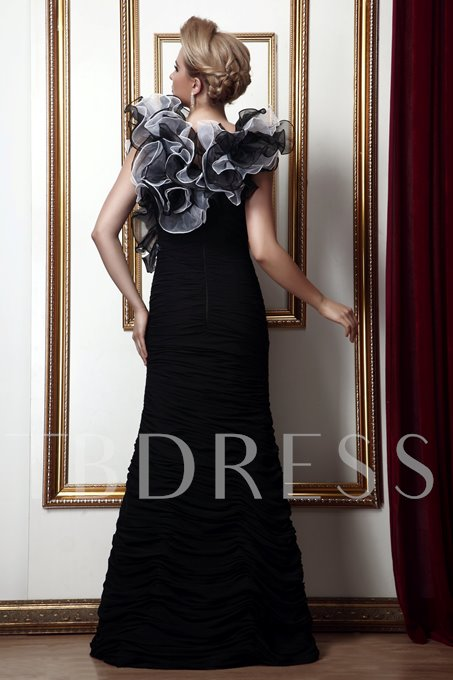 Cascading Ruffles Mermaid Mother of the Bride Dress