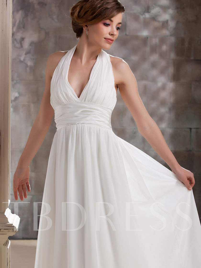 Tea-Length Empire Waist Beach Plus Size Wedding Dress