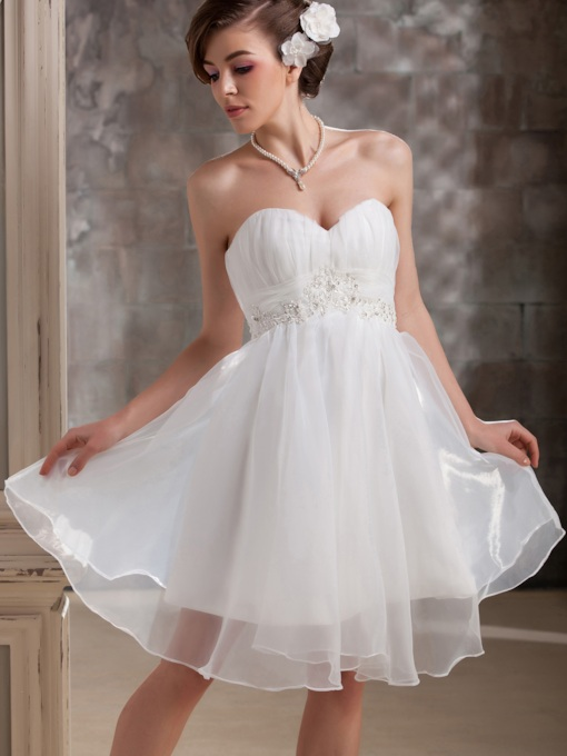 A-line Short/Mini Sweetheart Daria's Wedding Dress