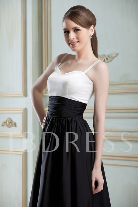 Ruched A-Line Straps Knee-length Bridesmaid Dress